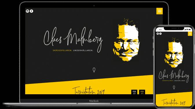 Webbprojekt Claes Malmberg