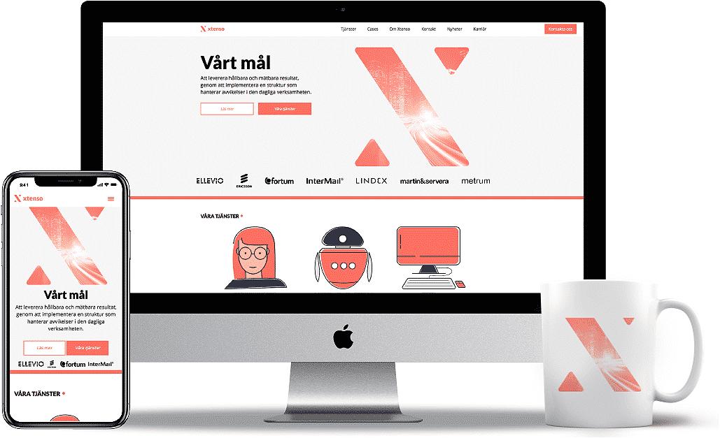 Xtenso design desktop och responsiv