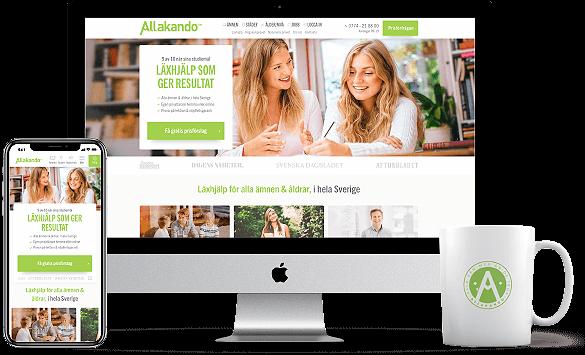 Webbprojekt Allakando