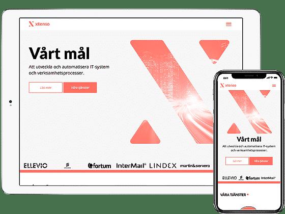 Webbprojekt Xtenso
